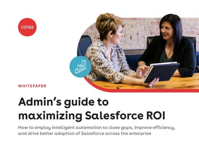 "Cover of ""Admin's guide to maximizing Salesforce ROI"""