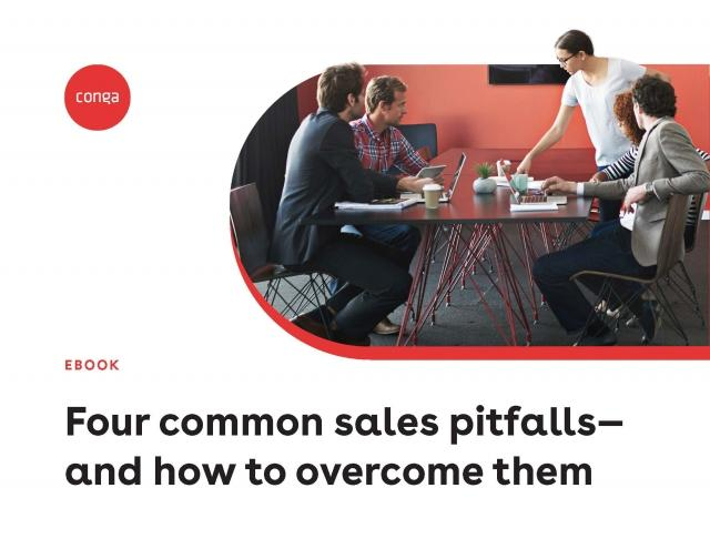 "Cover of ""Four common sales pitfalls—and how to overcome them"" eBook"