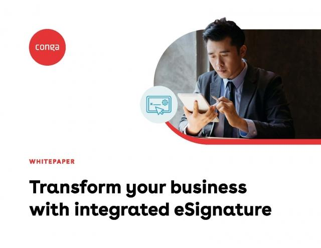 "Cover of ""Transform your business with integrated eSignature"" white paper"